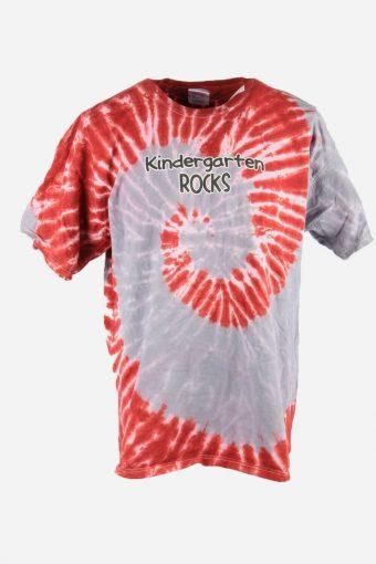 Rainbow Tie Dye T-Shirt Retro Music Festival 90s Men Multi Size XXL