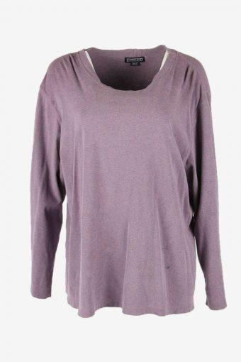 Vintage 90s Sweatshirt Plain Pullover Sports Retro Purple Size XXL