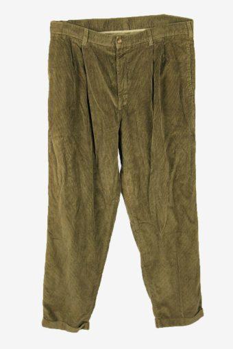 Vintage Corduroy Cord Trousers Oversize Comford Khaki Size W38 L32