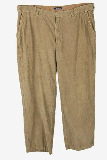 Vintage Corduroy Cord Trousers Oversize Smart 90s Cream Size W40 L31