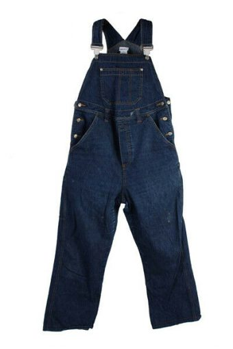 Vintage H&M Mama Denim Blue Dungaree Casual Size S