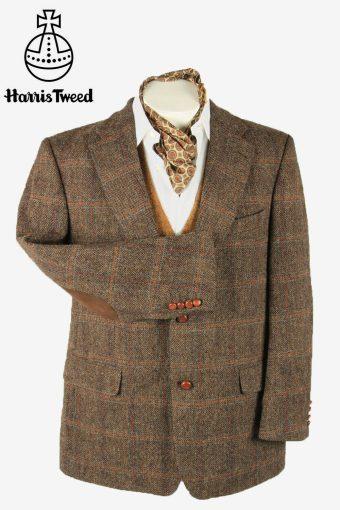 Vintage Harris Tweed Blazer Jacket Windowpane Country Multi Size XL