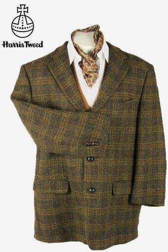 Vintage Harris Tweed Blazer Jacket Windowpane Country Multi Size XXXL
