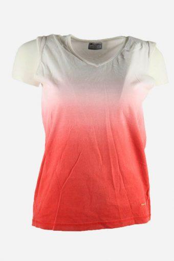 Women Champion T-Shirt Tee Sleeveless Sports Vintage Multicolared Size L