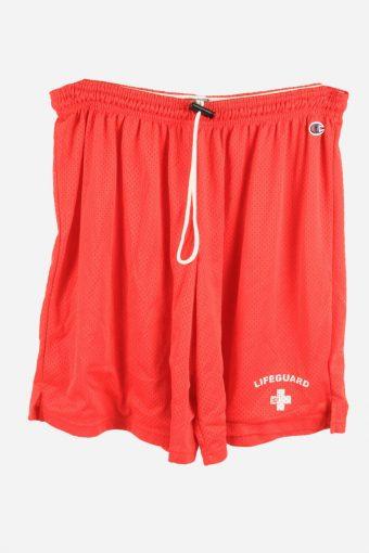 Champion Basketball Shorts Running Activewear Training Shorts Red XL
