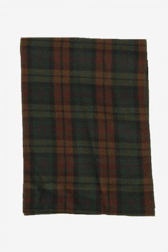 Check Tartan Scarf Vintage Tassel Plaid Warm 90s Retro Brown