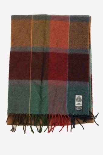 Check Wool Tartan Scarf Vintage Soft Tassel Plaid Warm 90s Retro Multi