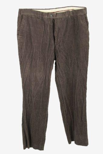 Corduroy Cord Trousers Vintage Oversize Smart Charcoal Size W40 L33