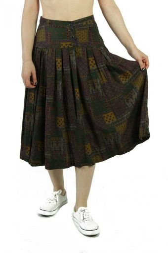 ESO Louge Casual Women`s Skirt Hippi Style Lined Vintage Multi Coloured