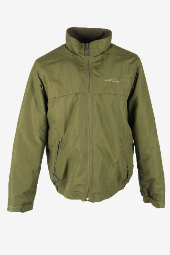 Eddie Bauwer Vintage Bomber Jacket Outdoor Lined Pockets Khaki Size M