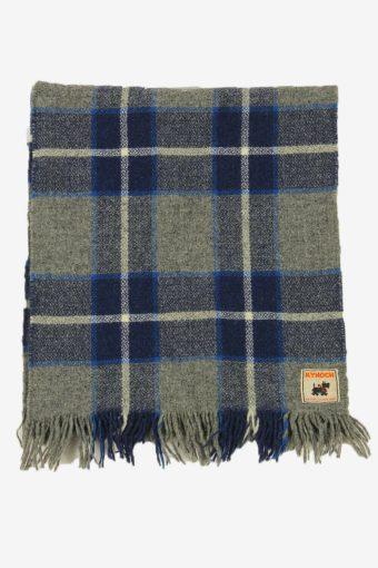 Kynoch Check Tartan Scarf Vintage Soft Tassel Plaid Warm 90s Retro Grey – FL406