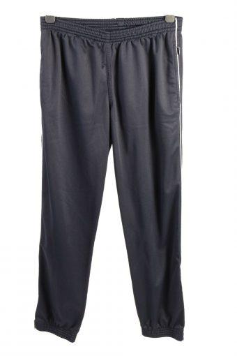 Le Mer Elastic Waist Tracksuit Bottom Ankle Zips Vintage Size M Navy