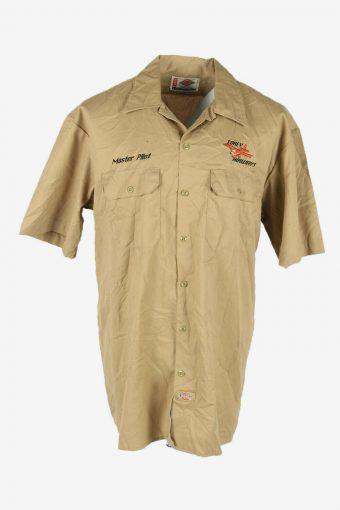 Mens Dickies Short Sleeve Nomex Resistant Vintage 90s Beige Size XL