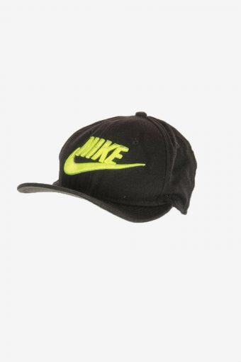 Nike Sport Cap Adjustable Snapback Outdoor 90s Vintage Retro Black