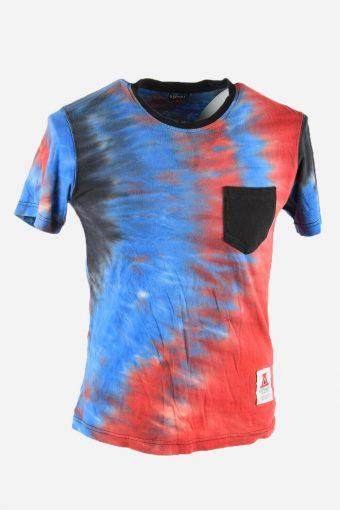 Rainbow Tie Dye T-Shirt Retro 90s Music Festival Hipster Men Multi Size S