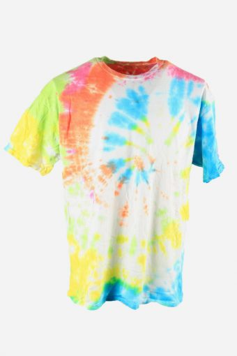 Rainbow Tie Dye T-Shirt Retro Music Festival Hipster Men Multi Size XL