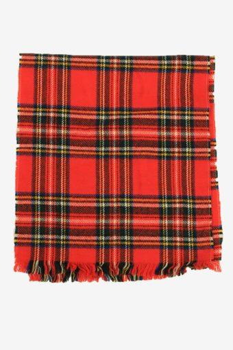 Tartan Scarf  Vintage Check Classic Tassel Winter 90s Retro Red