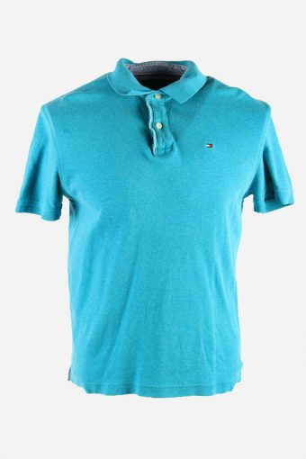 Tommy Hilfiger Polo Shirts Pique Tshirt Golf  Casual Men Turquoise Size M PT1300