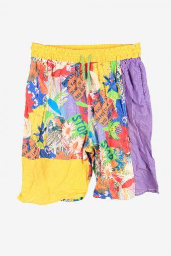 Vintage Bermuda Short Summer Pool Holiday 90s Retro Multi Size M
