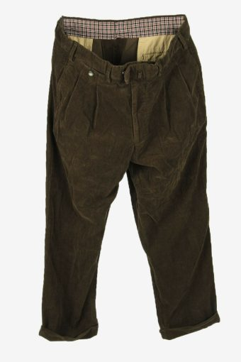 Vintage Corduroy Cord Size Relaxed Fit Smart Dark Green Size W35 L28