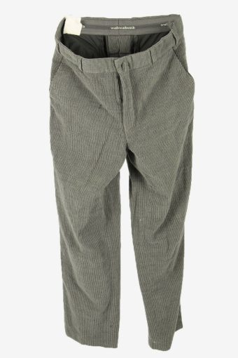 Vintage Corduroy Cord Trousers Relaxed Fit Comford Grey Size W36 L32