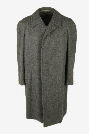 Vintage Wool Coat Winter Coat Jacket Classic Suit Lined Grey Size XXL