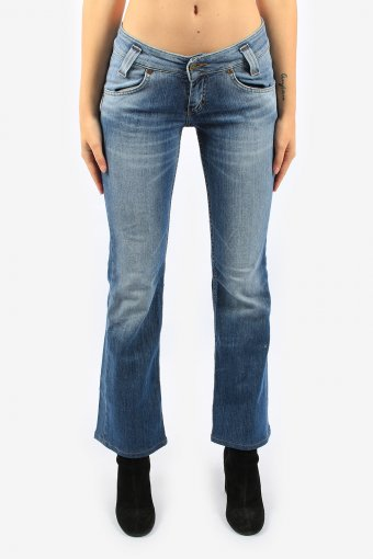 Womens Lee Flare Jeans Slim Fit Low Waisted