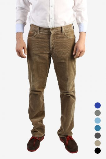 Wrangler Corduroy Trousers Straight Regular Fit 90s Retro