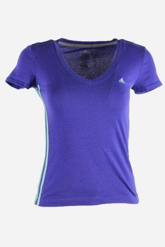 Women Adidas T-Shirt Tee Short Sleeve Sports Vintage 90s  Purple Size XS