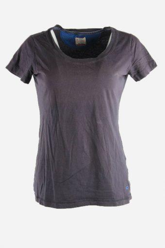 Women Champion T-Shirt Tee Short Sleeve Sports Vintage 90s  Black Size L