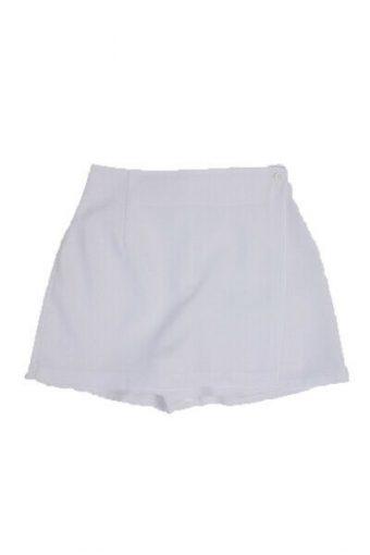 Women Tennis Short Training Athletic Sport Skirt Vintage White Size M