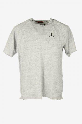 90s Jordon Logo Tshirt Plain Vintage Pullover Sports Retro Grey Size M