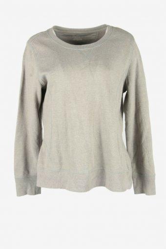 90s Sweatshirt Plain Vintage Pullover Sports Retro Dark Grey Size XL