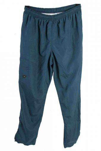 Adidas Men Three Stripes Tracksuits Bottom Vintage Size L Indigo
