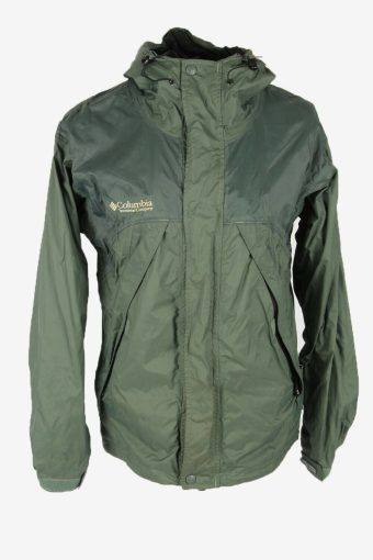 Columbia Outdoor Jacket Hoded Lined Breathable Pockets Grey Size M