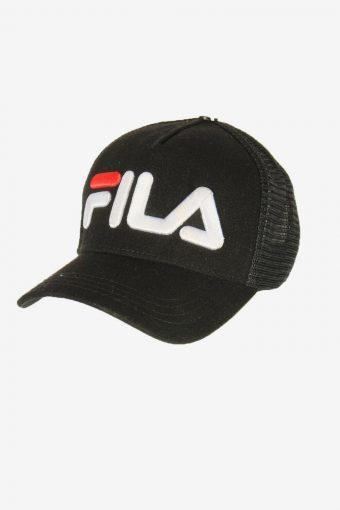 Fila Sport Cap Adjustable Snapback Outdoor 90s Vintage Retro Black
