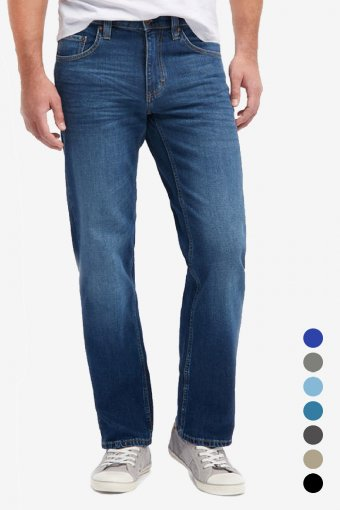 Mustang Big Sur Mens Jeans Relaxed Loose Fit Straight Mid Rise