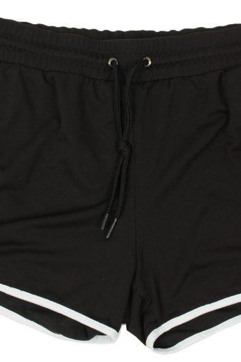 Puma Womens Sports Short Elasticated Summer Beach Vintage Size M Black
