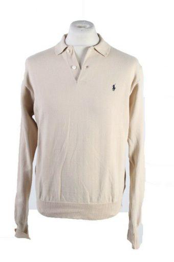 Ralph Lauren Polo Sweatshirt Long Sleeve Tops Beige Size M