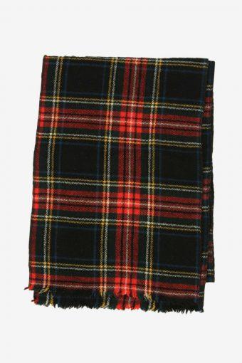 Tartan Scarf  Vintage Check Tassel Soft Winter 90s Retro Multi