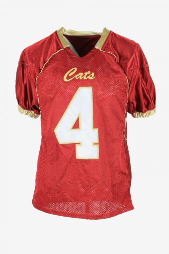 Vintage Cats Callahan 4 Apparel Jersey Shirts 90s Retro Red Size S