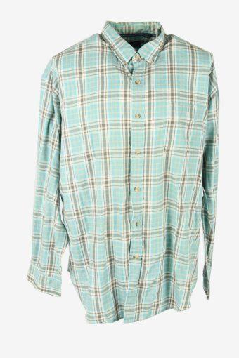 Vintage Flannel Shirt Check Long Sleeve Button 90s Cotton Multi Size XXL