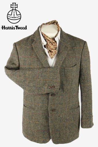 Vintage Harris Tweed Blazer Jacket Windowpane Country Grey Size M