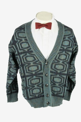 Vintage Knit Cardigan V Neck Sweater Cosby Button Up 90s Multi Size M