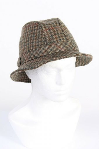 Vintage Mayser 1990s Fashion Mens Lined Trilby Hat Casual Smart Multi