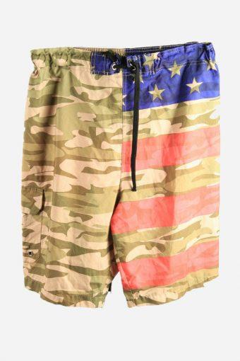 Vintage Surf Bermuda Shorts Pool Holiday Camouflage 90s Multi Size XL