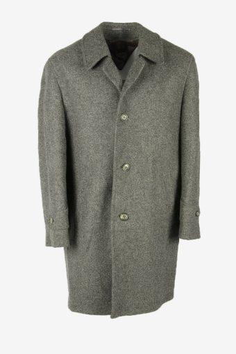Vintage Wool Coat Winter Coat Jacket Classic Suit Lined Grey Size XL