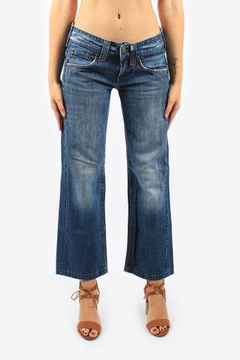 Women Lee Low Waisted Wide Leg Jeans Regular Fit