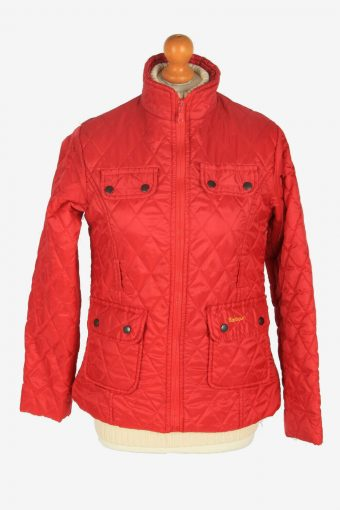 Womens Barbour Flyweight Cavalry Jacket Vintage Winter Retro Red Size S