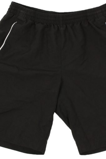 Adidas Mens Sports Short Elasticated Waist Beach Vintage Size M Black